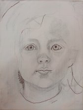 2017-03-04 Portrait - 'Grace' (Oils) - Part 1c Final, Acrylic Pen Blacks