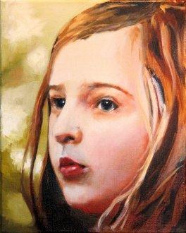 2017-04-01 Portrait - 'Imogen' (Oils) - Part 6a - Adding Second Color